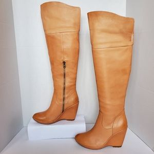 Kork-Ease Adrianne Leather Wedge Boots